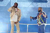 LOS ANGELES, CA - JUNE 23: Meek Mill and DJ Khaled at the 2019 BET Awards Show at the Microsoft Theater in Los Angeles on June 23, 2019. Credit: Walik Goshorn/MediaPunch