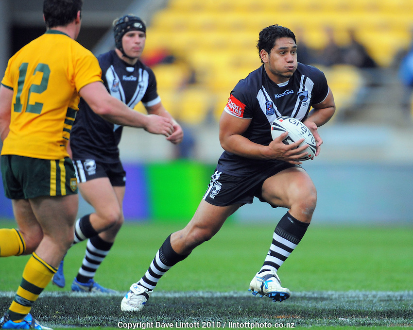 NZ captain Martin Taupau. Rugby League - New Zealand Junior Kiwis v Australian Junior Roos at Westpac Stadium, Wellington, New Zealand on Saturday, 23 October 2010. Photo: Dave Lintott / lintottphoto.co.nz