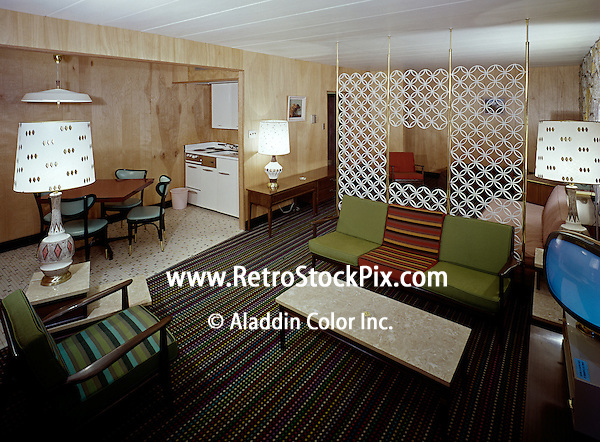 A 1960's motel room at the Country Squire Motel in Cherry Hill, New Jersey. 1960's