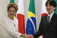 BRASILIA, DF, 06.11.2015 - DILMA-JAPÃO-  A presidente Dilma Rousseff, durante a visita do príncipe Akishino, filho do imperador Akihito, do Japão, no Palácio do Planalto, nesta sexta-feira, 06.(Foto:Ed Ferreira / Brazil Photo Press)