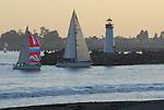sailboats near Walton Lighthouse in Santa Cruz