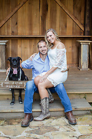Taylor and Taylor engagement photos in Stem, NC Sunday, September 17, 2017. (Justin Cook)