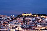 Blick auf das Castelo de Sao Jorge, Lissabon, Portugal