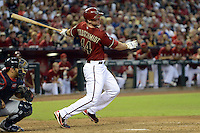 Arizona Diamondbacks first baseman Paul Goldschmidt (44) during a game against the Washington Nationals at Chase Field on September 29, 2013 in Phoenix, Arizona.  Arizona defeated Washington 3-2.  (Mike Janes/Four Seam Images)