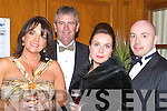 BALL: Having a gala time at the in aid of the Niall Mellon Township Trust Charity Ball at Ballygarry House Hotel & Spa, Tralee l-r: Liz and Dermot O'Gorman,Pauline and Cormac O'Connor(Tralee). ..v....   Copyright Kerry's Eye 2008