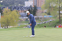 Thorbjorn Olesen (DEN) on the 11th green during Round 2 of the Open de Espana 2018 at Centro Nacional de Golf on Friday 13th April 2018.<br /> Picture:  Thos Caffrey / www.golffile.ie<br /> <br /> All photo usage must carry mandatory copyright credit (&copy; Golffile | Thos Caffrey)
