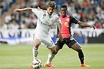 Real Madrid's Lucas Silva (l) and Almeria's Ramon Azeez during La Liga match. April 29,2015. (ALTERPHOTOS/Acero)