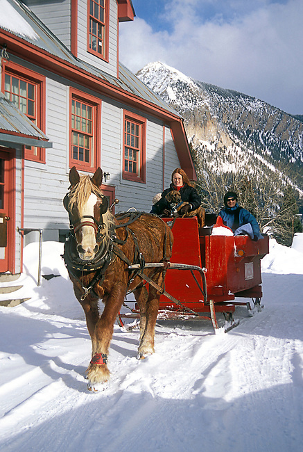 NoMR, Winter, Horse Drawn Sleigh, Crested Butte, Colorado