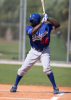 Los Angeles Dodgers minor leaguer Trayvon Robinson during Spring Training at Dodgertown on March 22, 2007 in Vero Beach, Florida.  (Mike Janes/Four Seam Images)