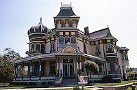 Redlands CA: Morey House, 140 Terracina, 1890. Elevation. Architect unknown. Photo '87.