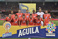 CALI - COLOMBIA, 21-09-2019: Jugadores del América posan para una foto previo al partido por la fecha 12 de la Liga Águila II 2019 entre América de Cali y Atlético Bucaramanga jugado en el estadio Pascual Guerrero de la ciudad de Cali. / Players of America pose to a photo prior match for the date 12 as part of Aguila League II 2019 between America de Cali and Atletico Bucaramanga played at Pascual Guerrero stadium in Cali. Photo: VizzorImage / Gabriel Aponte / Staff