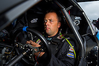 Aug 31, 2014; Clermont, IN, USA; NHRA pro stock driver Jonathan Gray during qualifying for the US Nationals at Lucas Oil Raceway. Mandatory Credit: Mark J. Rebilas-USA TODAY Sports