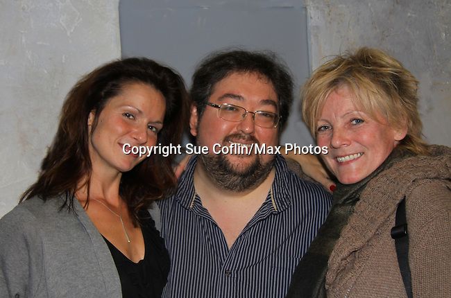 """One Life To Live's Florencia Lozano """"Tea Delgado""""stars with Scott Sickles (writer OLTL and Artistic Director WorkShop Theatre Co) as did Ellen Dolan a year ago in """"Verbatim Verboten - NYC"""" on October 18, 2010 at the WorkShop Theater, NYC. (Photo by Sue Coflin/Max Photos)"""