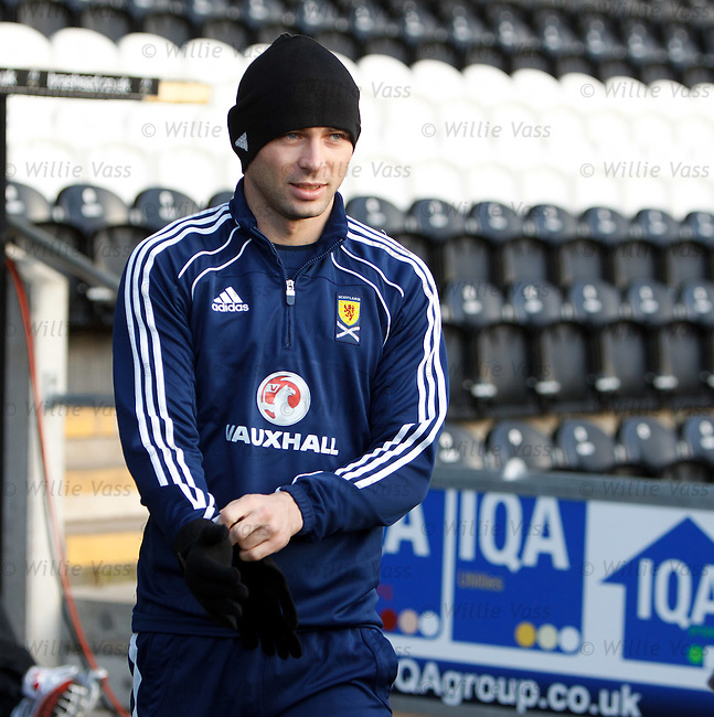 Phil Bardsley at Scotland training