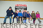 Enjoying the Listowel Coursing on Sunday were l-r  Sean Moriarty, Darragh Brown, Barry O'Leary, Georgie O'Donnell, Ann Brown, Eliza O'Donnell and Daisy O'Donnell all from Listowel