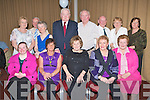 DINNER DANCE: Having a great time at the Ballinorig Dinner Social at the Manor West hotel on Friday seated l-r: Mary Kerins, Valerie Prenderville, Kit Kerins, Nuala Looney and Patricia Kerins. Back l-r: Phyllis McLoughlin, John Herily, Bride Downey, Tim Looney, Nicholas Kerins, Andy Kerins, Phil Gleeson and Mary Flaherty.