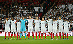 The England team ;one up for two minutes silence during the FIFA World Cup Qualifying Group F match at Wembley Stadium, London. Picture date: November 11th, 2016. Pic David Klein/Sportimage