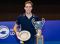 Alphen aan den Rijn, Netherlands, December 16, 2018, Tennispark Nieuwe Sloot, Ned. Loterij NK Tennis, Final men: Scott Griekspoor (NED)  wins te tournament<br /> Photo: Tennisimages/Henk Koster