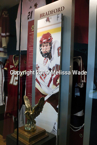 New Brock Bradford display - 2009 Male Eagle of the Year - The Boston College Eagles defeated the Merrimack College Warriors 4-3 on Friday, October 30, 2009, at Conte Forum in Chestnut Hill, Massachusetts.