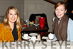 Enjoying the coffee morning in aid of the Hope Foundation in the Meadowland Hotel on Saturday morning, Aisling Maria Tobin and Amy McCarthy.