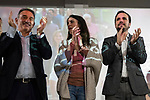 "Act of beginning of the campaign ""Unidas Podemos"" in Madrid. The spokesman of this party in Congress, Irene Montero, and the federal coordinator of IU, Alberto Garzón, intervene in it.<br /> October 31, 2019. <br /> (ALTERPHOTOS/David Jar)"