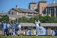 Jim Furyk (USA) watches his tee shot on 11 during Round 4 of the Valero Texas Open, AT&amp;T Oaks Course, TPC San Antonio, San Antonio, Texas, USA. 4/22/2018.<br /> Picture: Golffile | Ken Murray<br /> <br /> <br /> All photo usage must carry mandatory copyright credit (&copy; Golffile | Ken Murray)