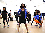 """LaChanze and Ariana DeBose and cast during the press presentation for  """"Summer: The Donna Summer Musical"""" on March 8, 2018 at the New 42nd Street Studios,  in New York City."""