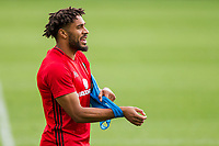 Ashley Williams during Wales national team training at Vale Resort, Hensol, Wales on 4 September 2017, ahead of the side's World Cup Qualification match against Moldova. Photo by Mark  Hawkins.