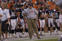 24 September 2005:  Virginia coach Al Groh..Virginia Cavaliers defeated the Duke Blue Devils 38-7 at Scott Stadium in Charlottesville, VA.