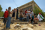 Palestinians demonstrate against the planned demolition of houses by the Israeli military in the village of An Nabi Salih near Ramallah on 11/06/2010.