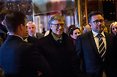 Billionaire Bill Gates arrives at Trump Tower in Manhattan, New York, U.S., on Tuesday, December 13, 2016. <br /> Credit: John Taggart / Pool via CNP
