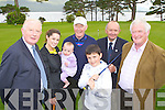 Launching the Kerry Group Corporation golf classic in aid of Crumlin Children's Hospital in Killarney on Thursday was l-r: Frank Hayes, Gina Kelly, Sophie Twiss, Fred Garvey, Ryan Sheehan, Alan Higgins and Tom Fox..