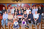 Paudie Lynch Ross Road Killarney seated centre celebrated his 50th birthday in the Killarney Avenue Hotel on Saturday night with his family and friends