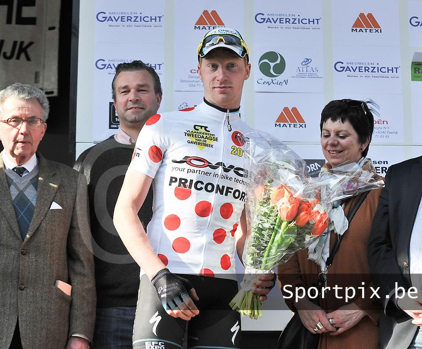 Vlaanderens Tweedaagse der Gaverstreek : Frederik Backaert wint de bergprijs.foto VDB / BART VANDENBROUCKE