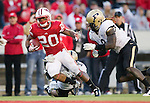 Wisconsin Badgers running back James White (20) scores a touchdown during an NCAA Big Ten Conference college football game against the Purdue Boilermakers on November 5, 2011 in Madison, Wisconsin. The Badgers won 62-17. (Photo by David Stluka)
