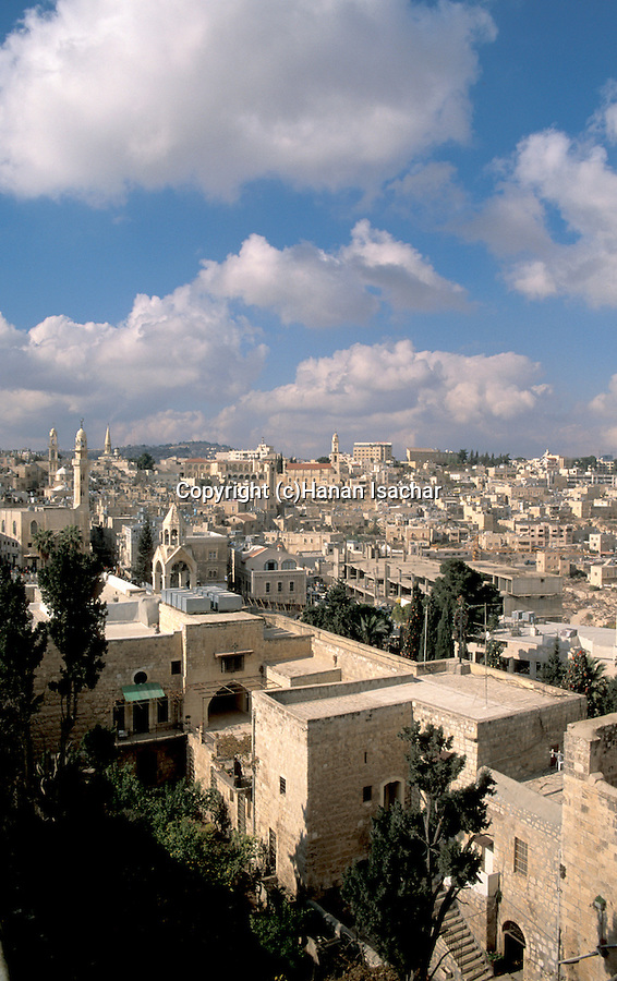 A view of Bethlehem on Christmas as seen from the bell tower of the Church of the Nativity &#xA;<br />