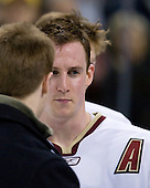 (Bradford) Matt Greene (BC 14) - The Boston College Eagles defeated the Harvard University Crimson 6-5 in overtime on Monday, February 11, 2008, to win the 2008 Beanpot at the TD Banknorth Garden in Boston, Massachusetts.