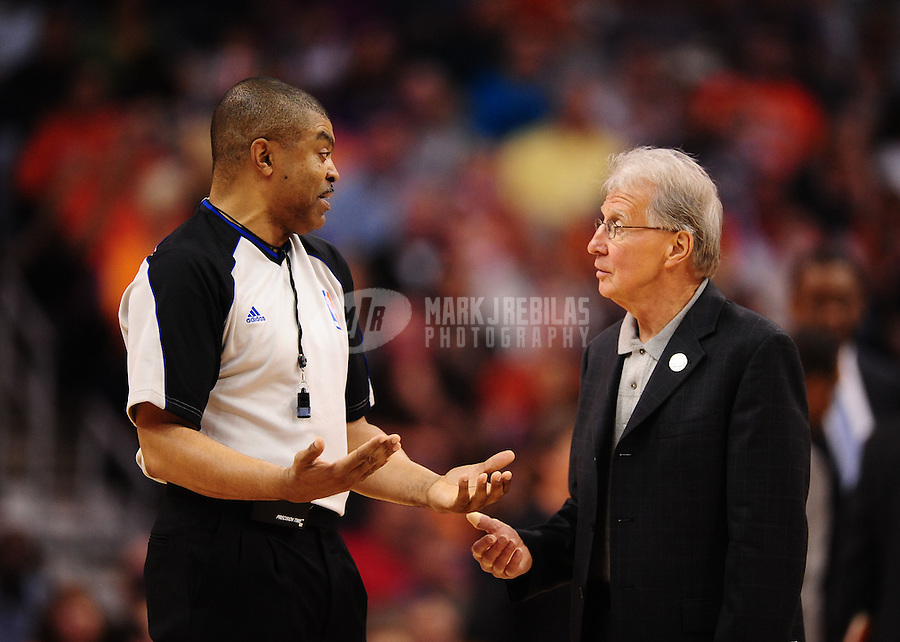 Mar. 27, 2011; Phoenix, AZ, USA; NBA referee Tony Brothers during the game between the Dallas Mavericks against the Phoenix Suns at the US Airways Center. Mandatory Credit: Mark J. Rebilas-