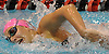 Carlotta Piantanida, Massapequa sophomore, competes in the 500-yard freestyle event during a Nassau County girls swimming meet against host Syosset High School on Tuesday, Oct. 17, 2017. She won the event with a time of 5:41.93.