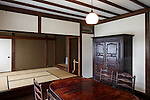 Tokyo, June 28 2013 - Dining room in the West Hall of Japan Folk Crafts Museum, former house of Japanese designer Soetsu Yanagi.