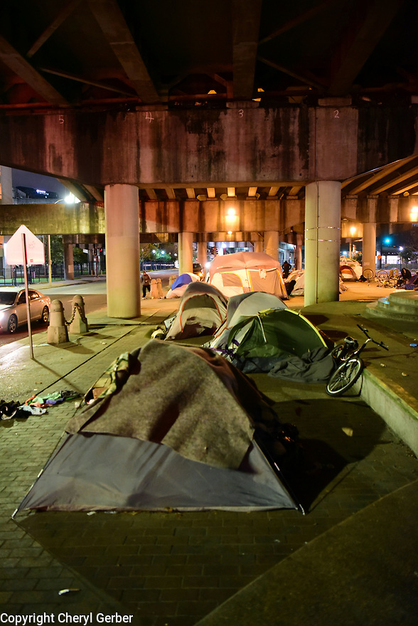 Homeless under the bridge