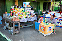 Myanmar, Burma.  Refreshment Stand adjacent to Buddhist Temple, Sagaing Hill, near Mandalay.