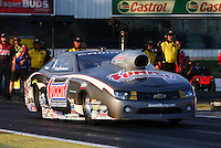 May 31, 2013; Englishtown, NJ, USA: NHRA pro stock driver Greg Anderson during qualifying for the Summer Nationals at Raceway Park. Mandatory Credit: Mark J. Rebilas-