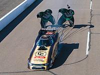 Feb 23, 2019; Chandler, AZ, USA; NHRA funny car driver Jim Campbell during qualifying for the Arizona Nationals at Wild Horse Pass Motorsports Park. Mandatory Credit: Mark J. Rebilas-USA TODAY Sports