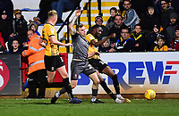 Lincoln City's Harry Anderson vies for possession with Cambridge United's Harry Darling, left, and Adebayo Azeez<br /> <br /> Photographer Andrew Vaughan/CameraSport<br /> <br /> The EFL Sky Bet League Two - Cambridge United v Lincoln City - Saturday 29th December 2018  - Abbey Stadium - Cambridge<br /> <br /> World Copyright © 2018 CameraSport. All rights reserved. 43 Linden Ave. Countesthorpe. Leicester. England. LE8 5PG - Tel: +44 (0) 116 277 4147 - admin@camerasport.com - www.camerasport.com