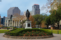 Benjamin Franklin Statue in Lafayette Square, New Orleans, LA, USA