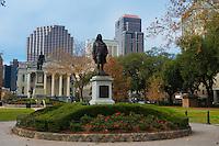 Benjamin Franklin Statue in Lafayette Square, New Orleans, LA, USA