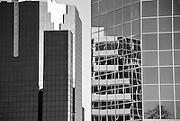 Reflections in Glass and Steel Office Buildings