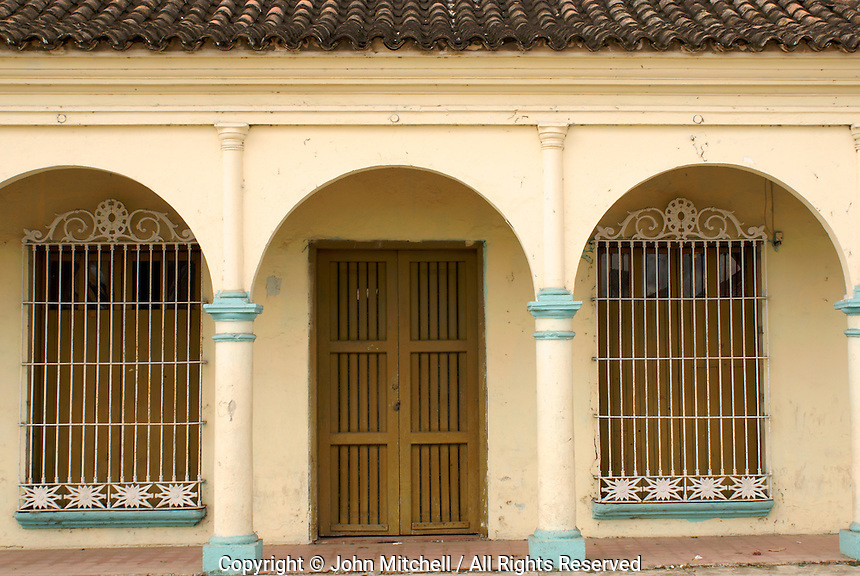 Restored house in the Spanish colonial river town of Tlacotalpan, Veracruz, Mexico. Tlacotlapan was made a UNESCO World Heritage Site in 1998.