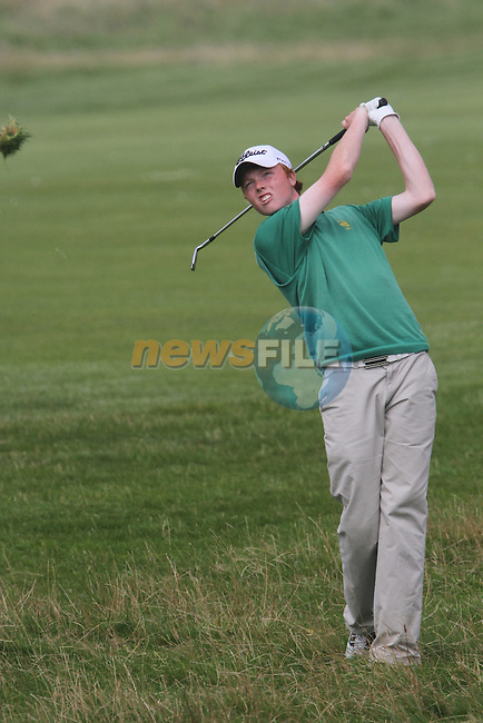 Robin Dawson (IRL) on the 10th on the Final Day at the 2012 Boys Home Internationals at Co.Louth Golf Club in Baltray, Co.Louth...(Photo credit should read Jenny Matthews/NEWSFILE)...